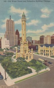 CHICAGO, Illinois, 1954 ; Old Water Tower & Palmolive Building