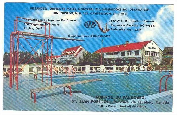Auberge du Faubourg , ST. JEAN-PORT-JOLI, Quebec, Canada, 50-60s ; Swimming Pool