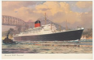 Shipping; Cunard Line RMS Saxonia PPC, Unposted, c 1930's