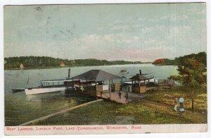 Worcester, Mass, Boat landing, Lincoln Park, Lake Quinsigamond