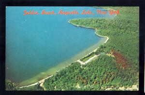 Raquette Lake, New York/NY Postcard, Aerial View Of Golden Beach