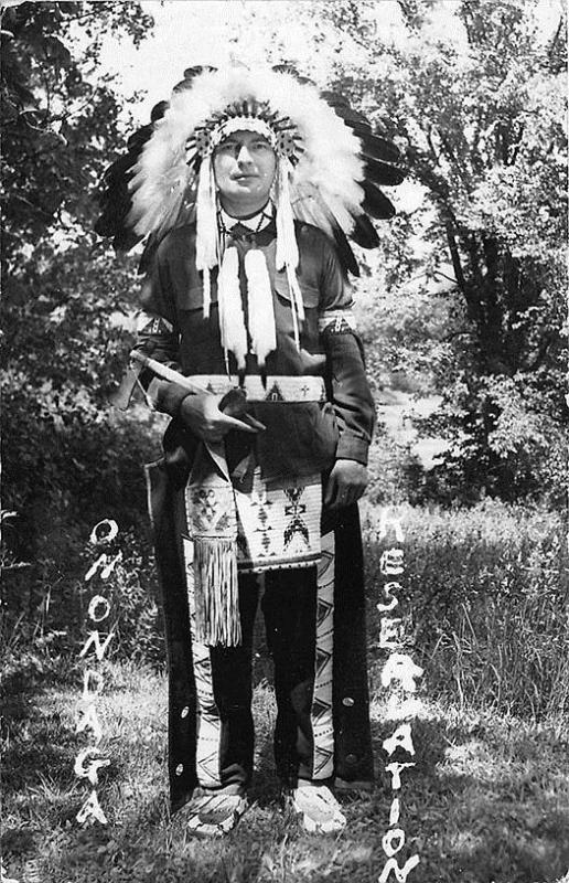 Native American Indian Onondaga Reservation RPPC Postcard