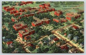 Tallahassee Florida~Florida State University Campus Aerial View~1955 Postcard