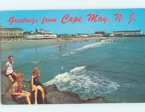 Pre-1980 BEACH SCENE Cape May - Near Wildwood & Vineland New Jersey NJ G5605