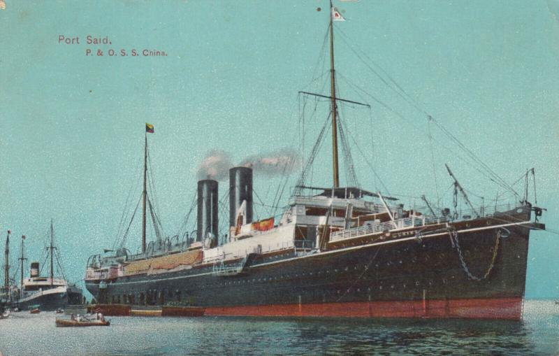 PORT SAID , Egypt , 00-10s; Ocean Liner P.&O. S.S. China