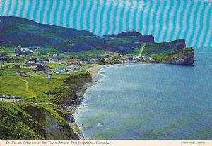 South Beach Peak 'o Dawn And Three Sisters Perce Quebec Canada