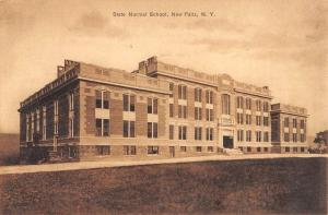 New Paltz New York State Normal School Street View Antique Postcard K90802