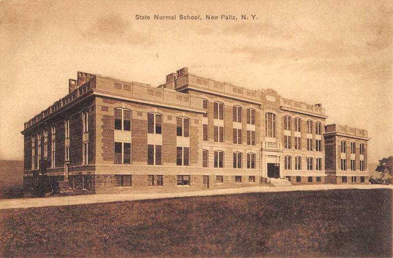 New Paltz New York State Normal School Street View Antique Postcard K90802