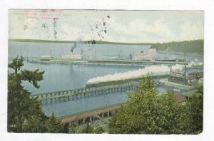 Great Northern Docks, Showing Steamers,  Minnesota  &  Dakota,  Seattle, Wash...