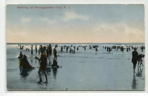 Bathing Beach Scene Narragansett Pier Rhode Island 1910c postcard