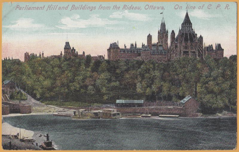 Ottawa, Ontario - Parliament Hill & Building from the Rideau