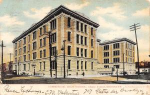 Brooklyn New York~Commercial High School~Albany Avenue~1906 Postcard