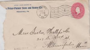 READING / PRIZER PAINTER STOVE  & HEATER CO. maker of BlueStar Stoves 1899 COVER