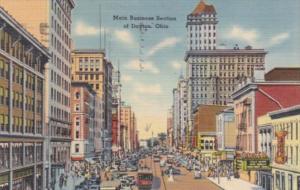 Ohio Dayton Main Street Business Section 1945