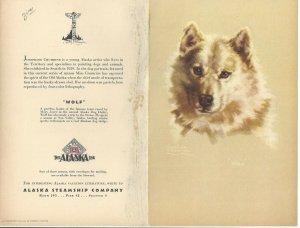 Alaska Line, S. S. BARANOF, May 18, 1949; Breakfast Menu, Wolf
