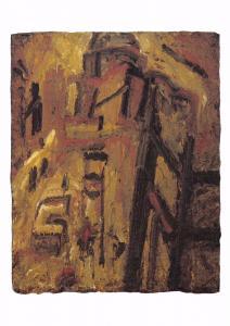 Postcard Art ST PAUL'S BUILDING SITE (1954) by Leon Kossoff MU2160 #73