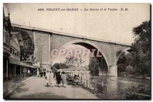 Nogent sur Marne Old Postcard Marl and the viaduct