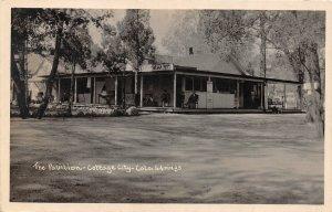 H85/ Colorado Springs RPPC Postcard c1910 Pavilion Cottage City  71