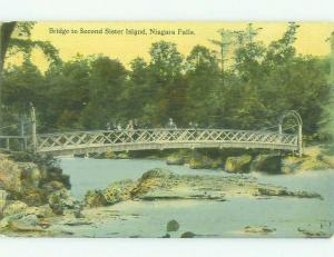 Unused Divided-Back BRIDGE SCENE Niagara Falls New York NY HJ0326