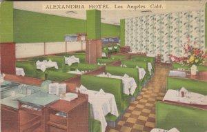California Los Angeles Alexandria Hotel Coffee Shop sk2670
