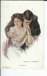 AY-020 - A Love Knot Artist Signed Alonzo Kimball 1907-1915 Golden Age Postcard