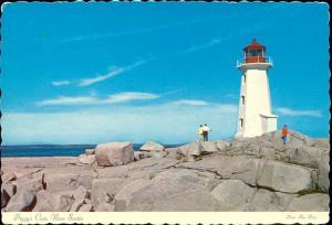 canada, PEGGY'S COVE, Nova Scotia, Lighthouse (1970s)
