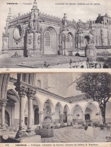 Thomar Portugal Convento De Christo 2x Old Postcard s