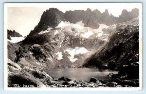 RPPC MAMMOTH LAKES, CA ~ ICEBURG LAKE 1945 Willard photo  Postcard