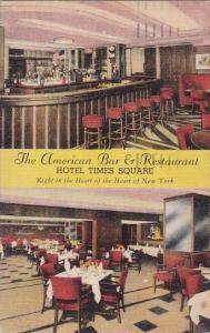 New York City The American Bar & Restaurant Hotel Times Square 1919