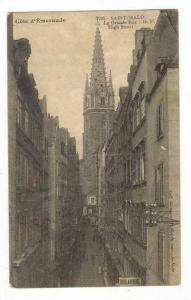 La Grande Rue,High Street,Saint-Malo,France,PU-1913