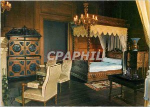 Postcard Modern Pau Pyrenees Atlantiques Chateau Bedroom of Queen Marie Ameli...