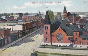 Wisconsin Marinette Birdseye View