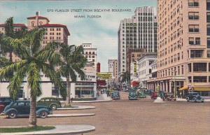 Florida Miami Flagler Street From Biscayne Boulevard