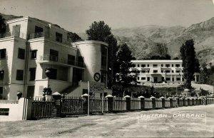 iran persia, TEHRAN TEHERAN, Darband دربند, Hotel (1960s) RPPC Postcard