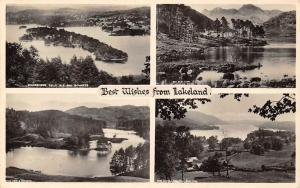 Best Wishes from Lakeland, Windermere Belle Isle Lake Panoramic view