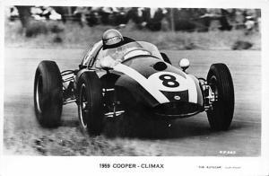 1959 Cooper Climax Automobile Racing, Race Car Postcard Unused