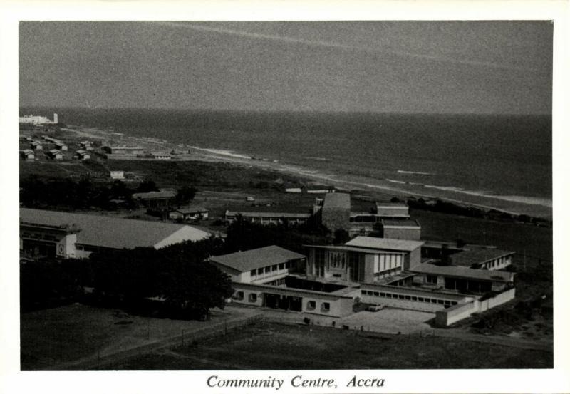 ghana, ACCRA, Community Centre (1950s) RPPC Postcard