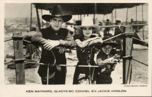 Movie Film Cowboy Actors KEN MAYNARD, JACKIE HANLON, Actress GLADYS MC. CONNEL