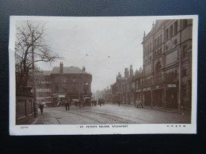STOCKPORT St. Peter's Square showing OPERA HOUSE c1907 RP Postcard by A.H.& S.M.