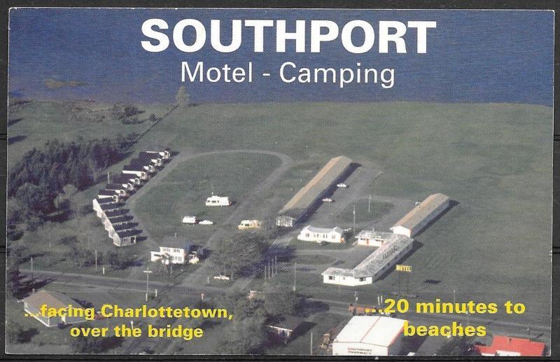 Canada, PEI, Charlottetown, Southport Motel, writing on back