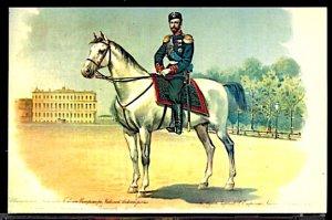 Russia Vintage Nicholas II on Horse in the Preobrazhensky Regiment Uniform