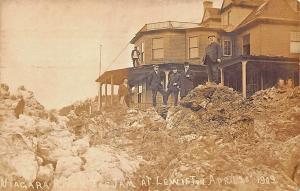 Lewiston NY Niagara River Ice Jam April 1909 RPPC Postcard