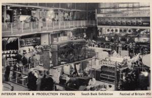 Festival Of Britain Power & Production Pavillion Exhibition London Postcard