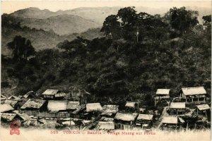 CPA AK INDOCHINA Tonkin Village Muong sur Pilotis VIETNAM (956854)