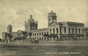 pakistan, KARACHI, Sind Art College (1910s) R. Jalibhoy Postcard