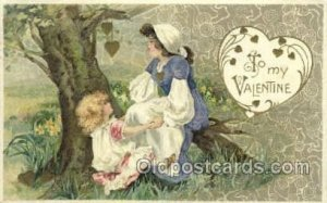 Publisher John Winsch Valentines Day 1910 postal used 1910