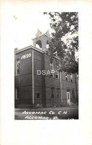 A45/ Accomac Virginia Va Postcard RPPC Real Photo County Court House