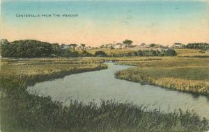C-1910 Centerville Meadow Massachusetts hand colored Postcard 1607