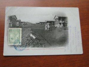 Diego Suarez Madagascar Postcard 1906 Postmark  Military Camp Ambre