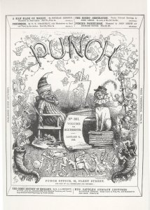 Mr Punch As Clown Victorian Magazine Cover Postcard